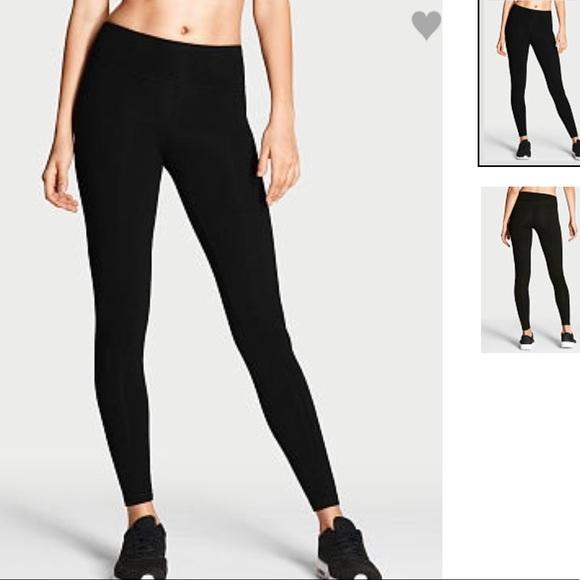 952b75cb8dee4 Victoria's Secret Pants | Victoria Secret Sport Black Legging | Poshmark